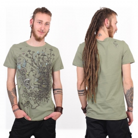 """Shroombeard\"" t-shirt, Light green"