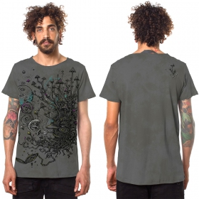"""Shroombeard\"" t-shirt, Wash grey"