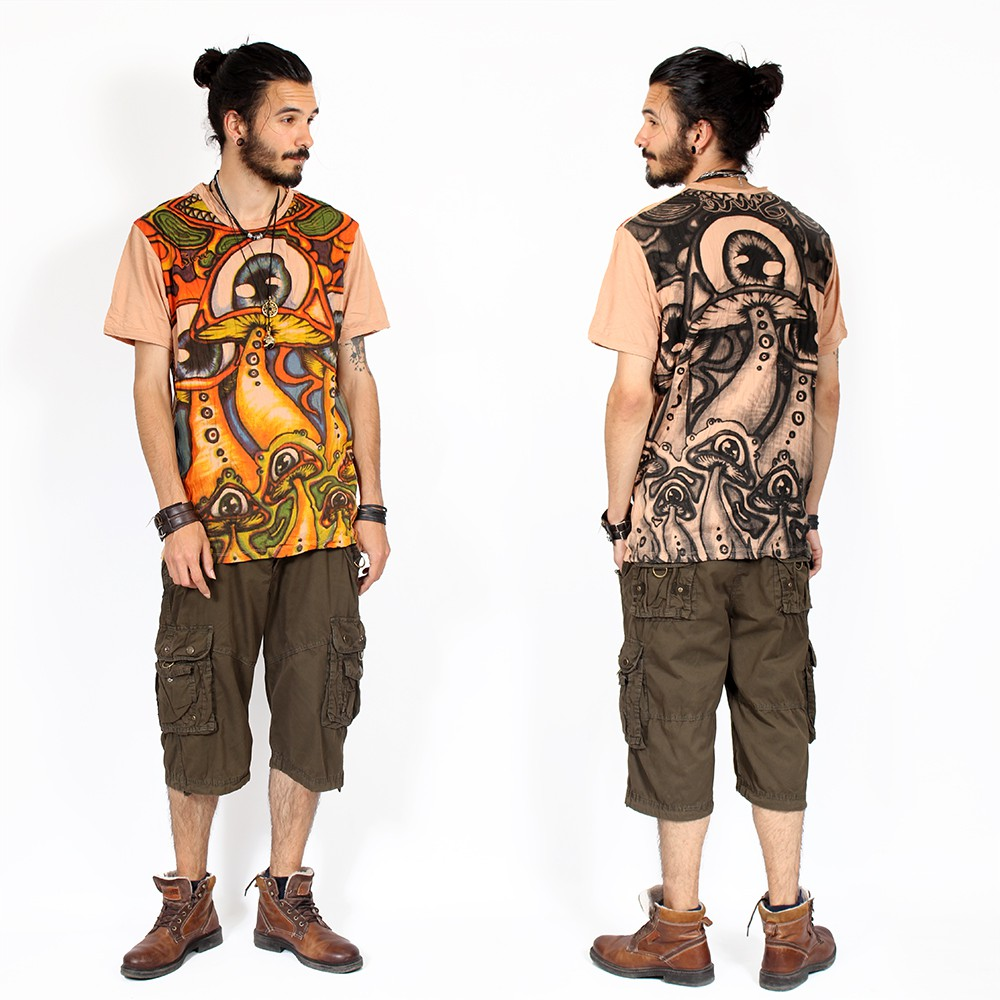 """Shrooms\"" T-shirt, Brown"