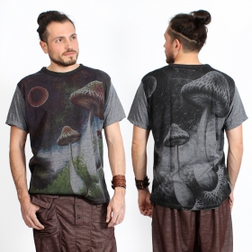 """Shrooms in space\"" t-shirt, Dark grey"