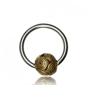 "\\\""Shukry\\\"" steel and brass jewel"