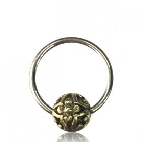 "\\\""Shukryah\\\"" steel and brass jewel"