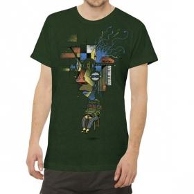 "\""Sit Up\"" t-shirt, Green"