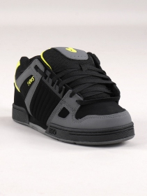 Skate shoes DVS Celsius, Black and grey leather and lime details