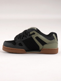 Skate shoes DVS Celsius, Black and olive green leather