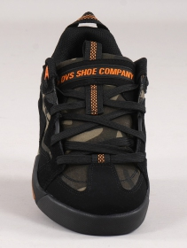 Skate shoes DVS Devious, Black leather and camo details