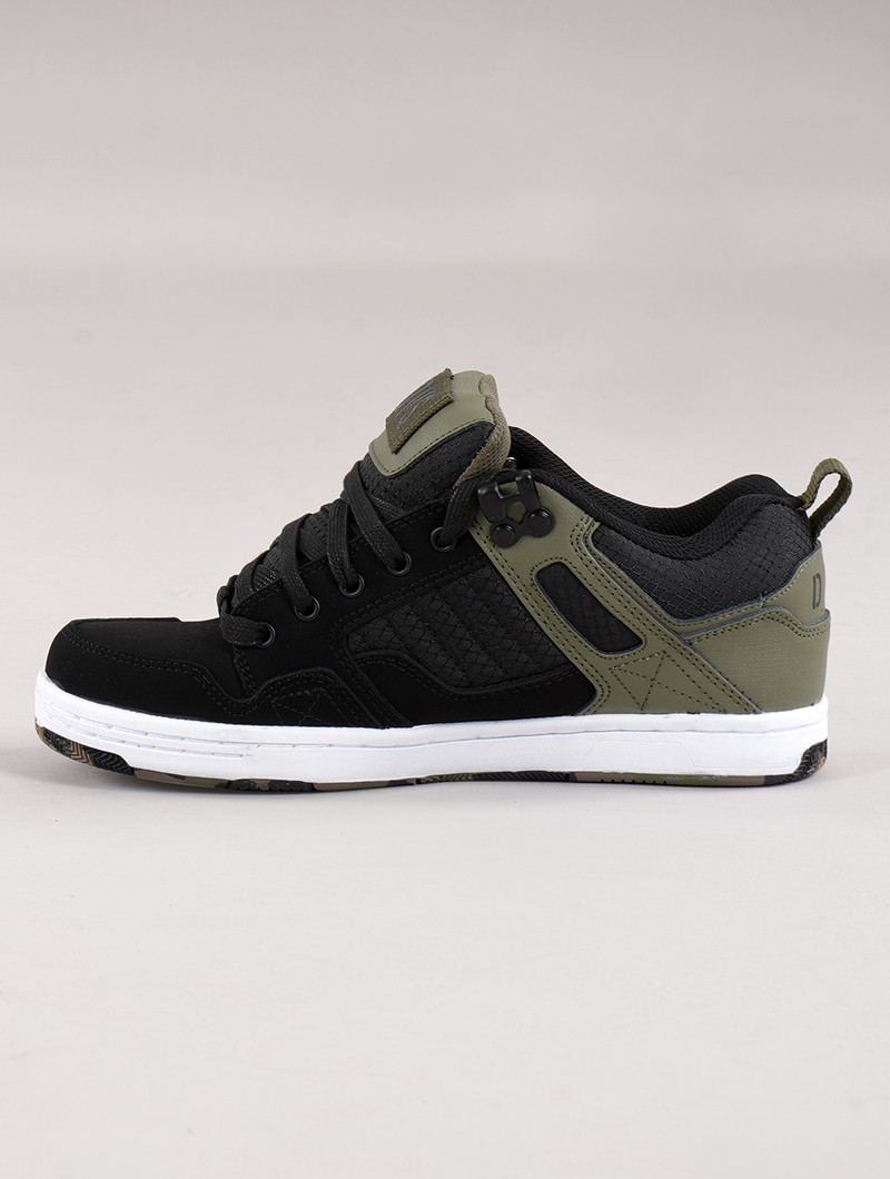 Skate shoes DVS Enduro 125, Black and olive green leather