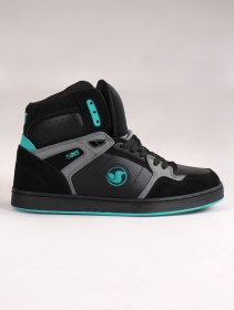 Skate shoes DVS Honcho, Black, grey and turquoise suede leather