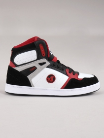 Skate shoes DVS Honcho, Black, white and red leather
