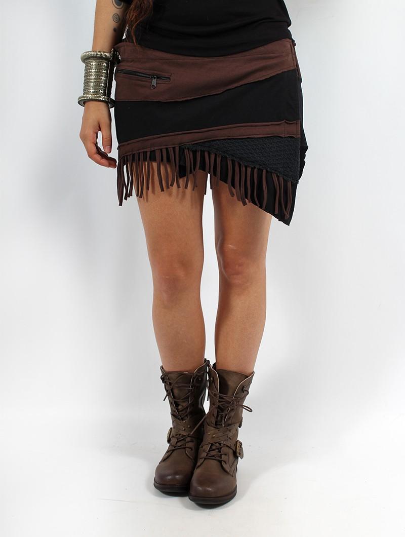 """Skirt \""""Azhar\"""", Black brown"""