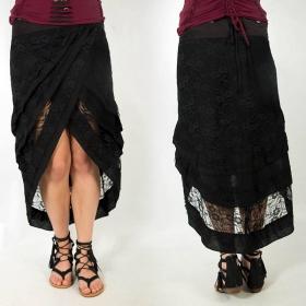 """skirt \""""Daya\"""", Plain Black"""