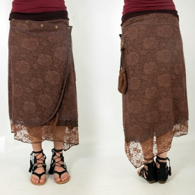 "skirt ""Dayati\"", Plain Brown"
