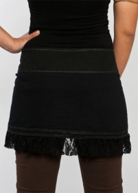 "Skirt \""funky wrap\\\"", black"