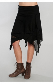 "Skirt \""gitane patch\\\"", black"