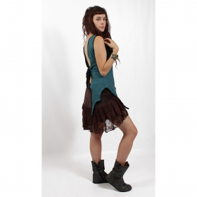 """Skirt \\\""""lace wrap\\\"""", brown"""