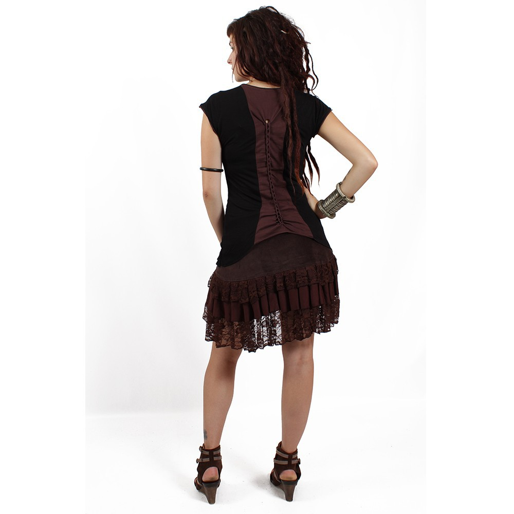 "Skirt \""lace wrap\\\"", brown"