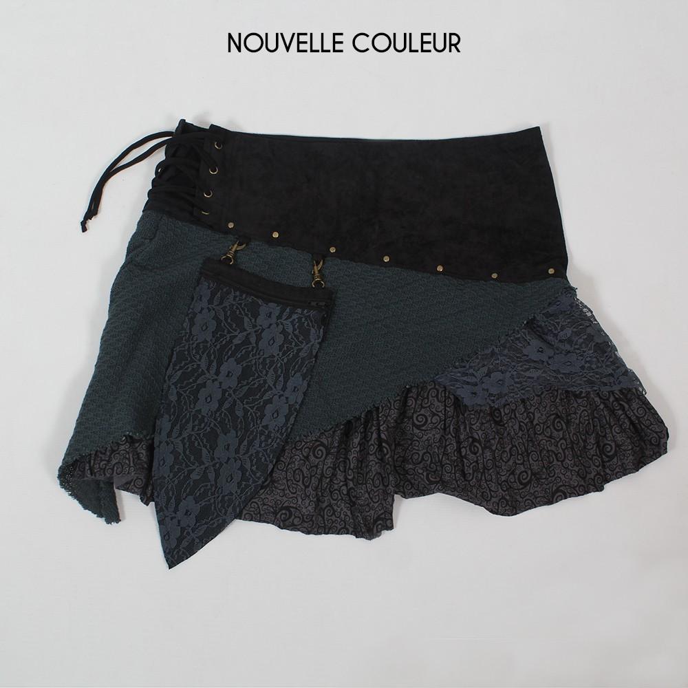"""Skirt \""""Multi\"""", Black grey"""