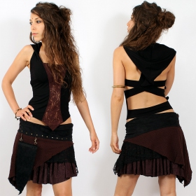"Skirt \""multi\\\"" black-brown, one size"