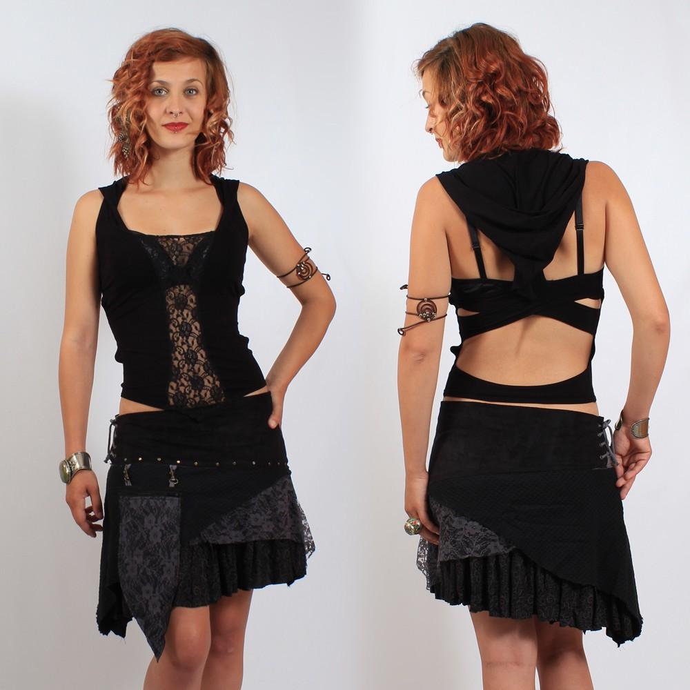 """Skirt \\\""""multi\\\"""" black"""