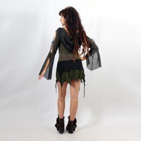 "Skirt \""Sananda\"", Black kaki plain"