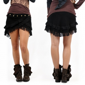 "Skirt ""Soft wrap\"", Black"