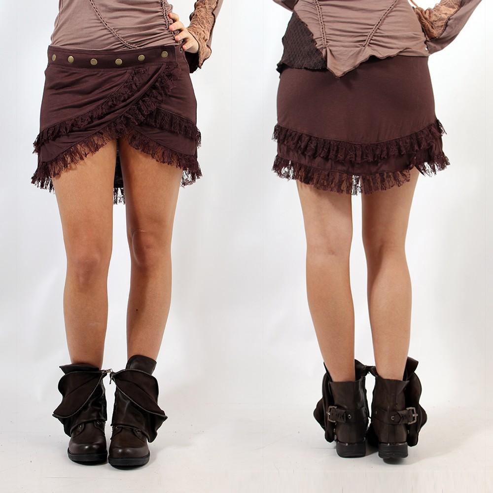 "Skirt \""Soft wrap\"", Brown"