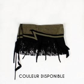 "Skirt ""Wave"", Khaki and Black"