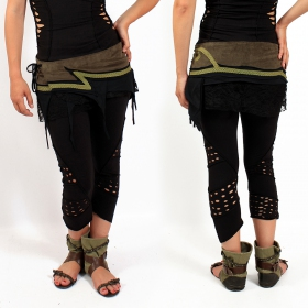 "Skirt \""Wave\"", Khaki and Black"