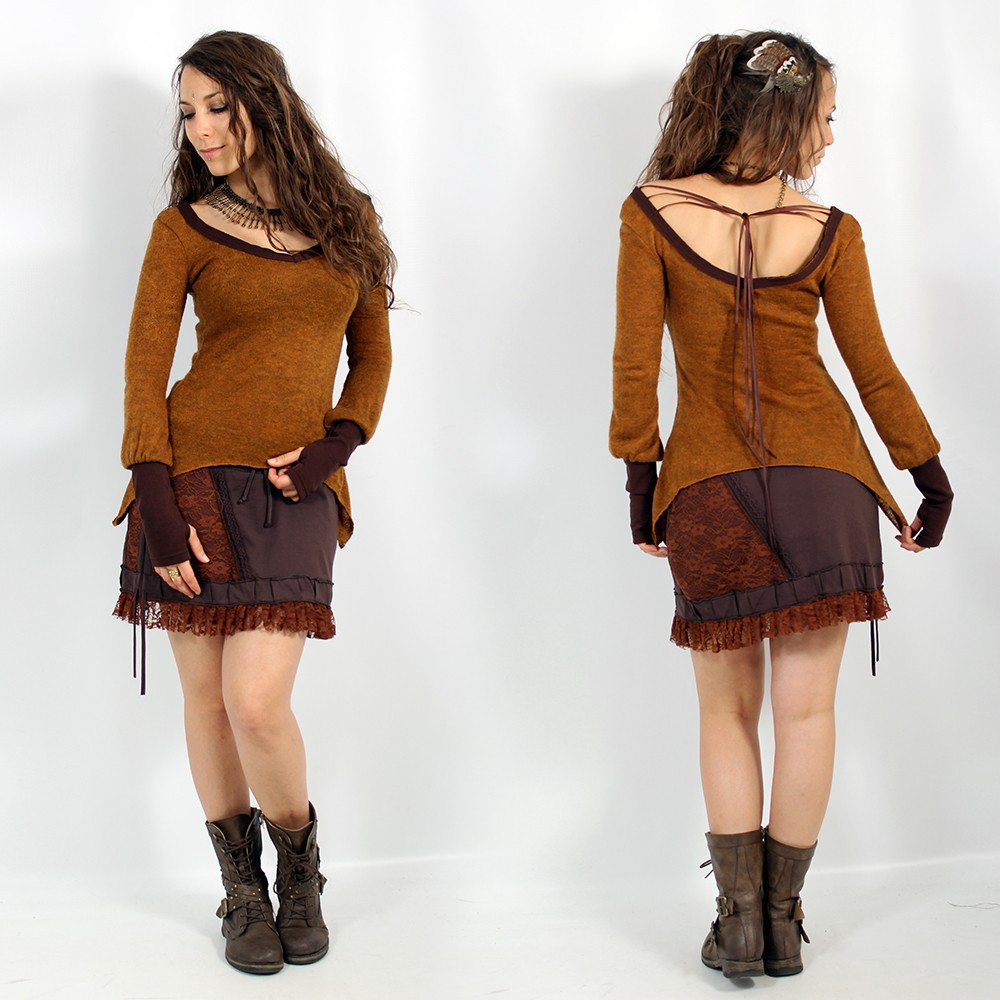 "Skirt Exception \\\""Pimjaï\\\"", Brown"