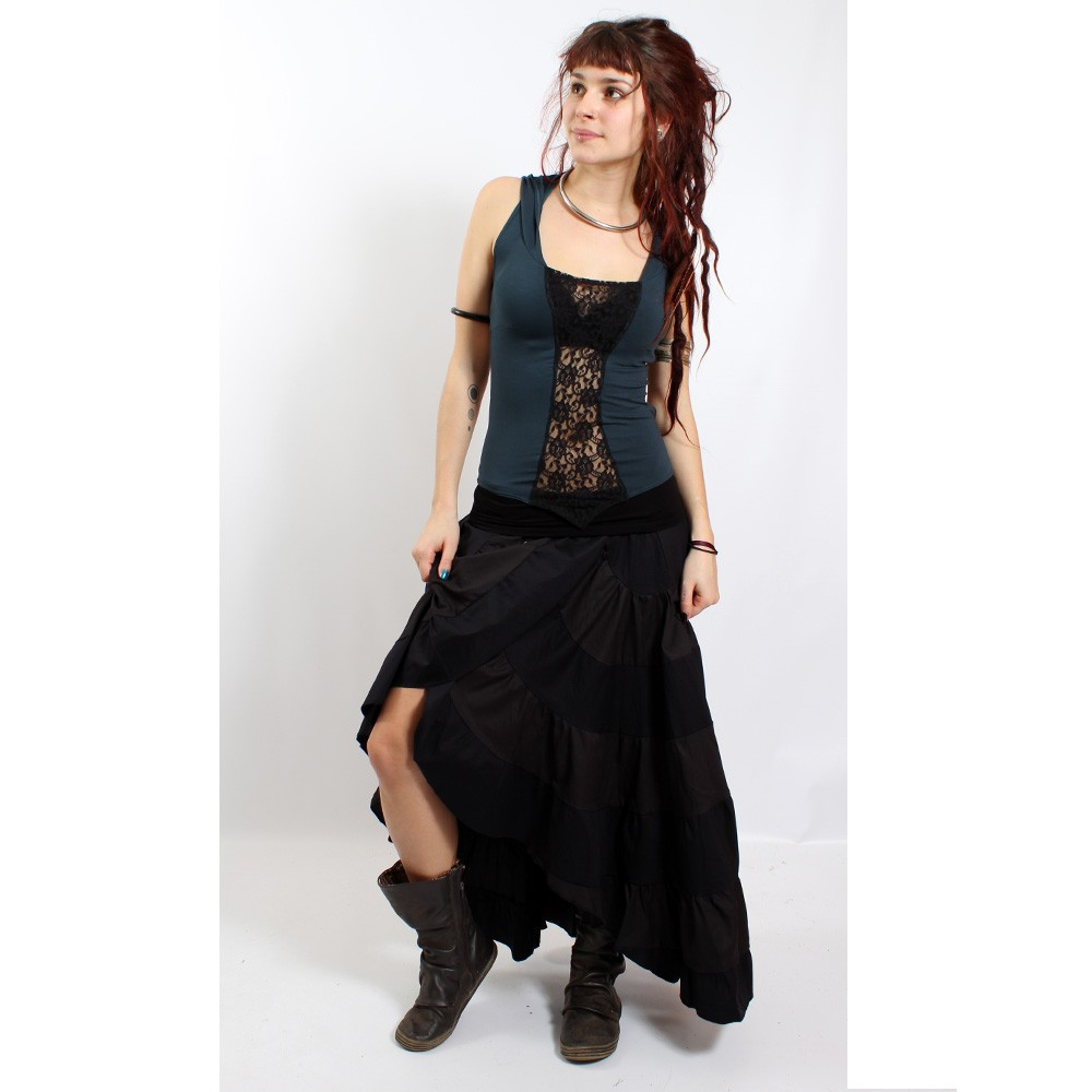 "Skirt liloo \""utopia\\\"", black one size"