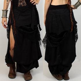 "Skirt liloo \\\""utopia\\\"", black plain"