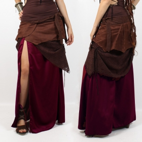 "Skirt liloo \""utopia\\\"", deep red brown"