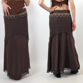 "Skirt Luna \""Bohemian\\\"", Brown"