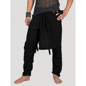 """Skirted\"" pants, Black"