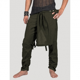 """Skirted\"" pants, Khaki"