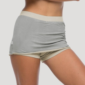 """Skirted shorts\"", Light grey and beige"