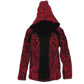 "\""Sky Haida\"" pointy hoodie, Red"