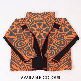 """Skywalker Haida\"" pointy hooded jacket, Orange and black"