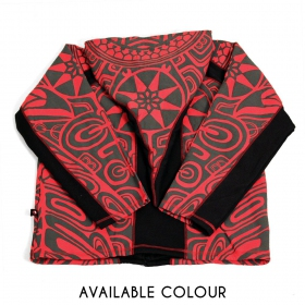 """Skywalker Haida\"" pointy hoodie, Red"