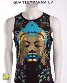"Sleeveless T-Shirt Public Beta \""Quantumkarma UV\"", Black"