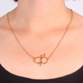 "\""Smell of Rain\"" necklace, Geosmin molecule"