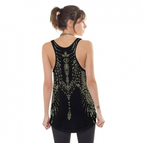 """Soul Flower\"" tank top, Black"