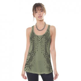 """Soul Flower\"" tank top, Khaki"