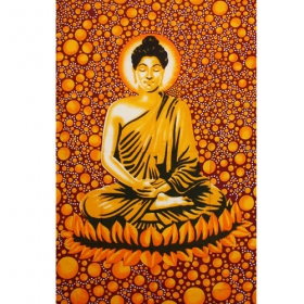 """Space Bouddha\"" hanging, Orangish red"