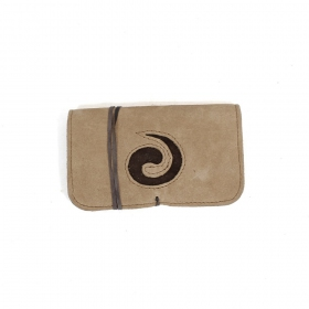 """Spiral\"" leather tobacco pouch"