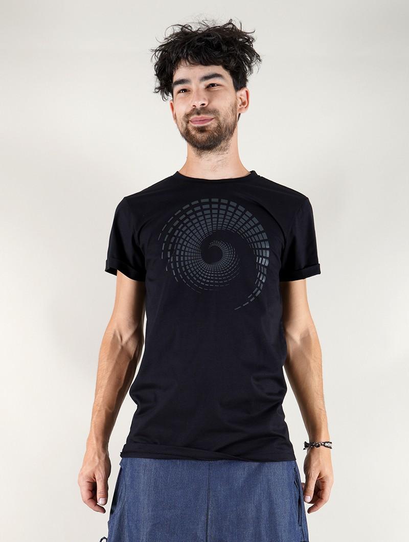 "\""Spiral Tierra\"" t-shirt, Black"