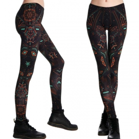 """Star System\"" UV leggings, Multicolor"