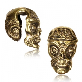 """Steam Punk Skull\"" plug"