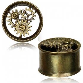 "\\\""Steampunk\\\"" brass plug"