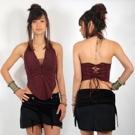 """Sukay\"" backless top, Plum"